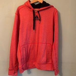 Adidas ultimate hoodie thumbhole orange hoodie